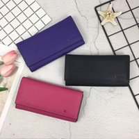 Wholesale cowhide clutches - 2018 Fashion Genuine Leather Women Hasp Wallets Designer Long Woman Clutch Wallet with Coin Pocket Card Holder
