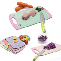 Wholesale Vegetable Cuts - Non Slip Chopping Board Multi Color Plastic Cutting Boards Vegetable Meat Tools Kitchen Accessories 11 25jd2 C R