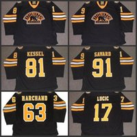 boston jersey lucic venda por atacado-91 MARC SAVARD 81 PHIL KESSEL 63 BRAD MARCHAND 17 MILAN LUCIC Boston Bruins 2011 Camisa de Hóquei CCM S-3XL