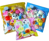 Wholesale universal toys - 10 20 30 Pack Squishies Simulation Toys Donut Bread Panda Squishies Phone Straps