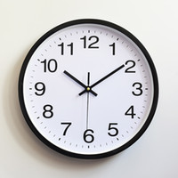 Wholesale wholesale antique style watches for sale - Plastic Wall Clock Quartz Bedroom Living Room Table Minimalism Watch Non Ticking Silent Clockes Office Home Decor Gift hs gg