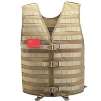 uniformes tácticos al por mayor-Hombres Chaleco táctico Equipo de trabajo Camo Molle Chaleco uniforme SWAT Combate Paintball Chaleco Cazador Camuflaje