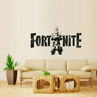 Wholesale game room art - Fortnite Wall Sticker cm Art PVC Baby Room Wall Decals Cartoon Game Wall Stickers Toys OOA5516