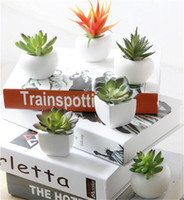 Wholesale flower plant pot wall stickers for sale - Group buy Fridge Sticker Simulated Bouquet Flower Succulent Plant Fridge Magnet Magnetic Potted Plant for Home Wall Decoration Living Room