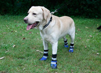 Wholesale outdoor dog shoes resale online - Outdoor warm dog shoes for stroll sports wearable snow boots with reflective stripe pets waterproof antiskid soles pet dog apparel