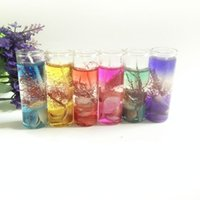 Wholesale scented colored candles resale online - DIY Transparent Jelly Candles Hand Made Sea Shells Glass Candle Safe Crystal Wax Bougie For Wedding Party Decoration xr BB