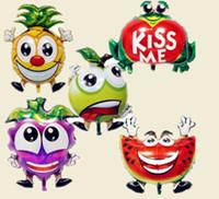 globos de manzana al por mayor-Buena calidad Fruta Globos Manzana Helio Globos Piña para decoraciones de sandía, Globos de rana, Globo de arándanos Suministros para fiestas