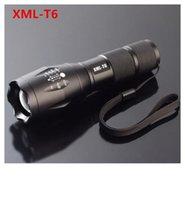ultrafire cree e17 xml t6 taschenlampe großhandel-E17 R5 XML-T6 2000 Lumen Zoomable CREE imprägniern LED Fackel-Taschenlampen, die fackel-hohen hohen 100pcs / lot kampieren Freies Verschiffen