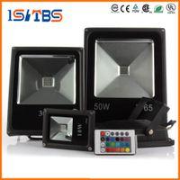 spot rgb ip65 al por mayor-Luz de inundación del LED AC85V-265V Luz de inundación del LED 10W 20W 30W 50W RGB Reflector impermeable IP65 Reflector llevado Proyector del jardín Proyector al aire libre Lámpara