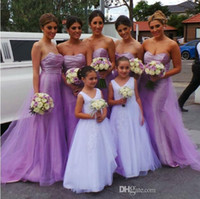 Wholesale sexy wedding evening party dresses for sale - Group buy 2018 Sexy Purple Strapless A Line Bridesmaid Dresses Backless Wedding Guest Dresses Party Gowns Plus Size Evening Gowns Vestidos De Festa