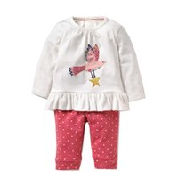 Wholesale designer baby clothes for sale - Long Sleeve Baby Girl Clothing Sets New Designer Girl Outfits Autumn Cute Baby Girls Clothing Sets