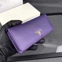 Wholesale men wallet size - With box women purse Luxury brand Designer Long wallet 9 color fashion Holders Wallets Size 19*10*2.5 cm model L1132