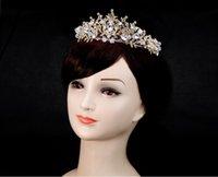 coroas redondas para noivas venda por atacado-Coroa de noiva redonda clássica barroca retrô