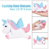Wholesale Cute Cellphone Charms - 11 Styles Cute jumbo Unicorn Squishy Toys Slow Rising Kawaii Cellphone Straps Charms Pendant Simulation Bread Stress Reliever Gifts DHL