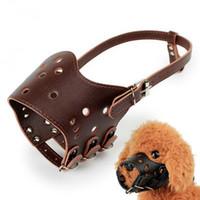 siyah köpek örtüsü toptan satış-Ayarlanabilir Pet köpek ağız Köpek Namlu Basket Anti-bite Köpekler Barking Durdur Ağız Kapak Siyah yaka Köpek Emniyet Aksesuarlar Maske setleri