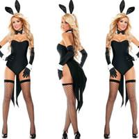 traje de coelho adulto venda por atacado-2018 New Bunny Girl Coelho Trajes Mulheres Cosplay Sexy Halloween Animal Adulto Traje Fancy Dress Clubwear Desgaste Do Partido Plus