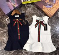 Wholesale high end girls dresses - Europe and the United States summer new girls sleeveless dress fashion Princess dream children's skirt high-end beautiful