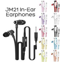 Wholesale colorful earbuds microphone for sale – best Langsdom JM21 In Ear Earphone With Micphone Colorful Headset Hifi Earbuds Bass Earphone For iPhone Samsung LG Phone with Retail Package