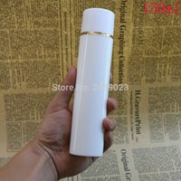 Wholesale golden bottle cosmetic for sale - Golden Line Airless Vacuum Pump Lotion Bottle With White Cap Cosmetic Containers ml ml ml ml ml ml
