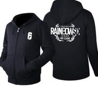 Wholesale cosplay six for sale - 2018 Tom Clancy s Rainbow Six Siege Game Cosplay Hoodie Men s autumn Winter Casual Fleece Sweatshirt Zip Up Hoodie Cotton Coat