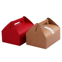 Wholesale chinese christmas crafts - 5 Colors L Size Kraft Paper Candy Bag Cake Boxes Lunch Box Party Decoration Craft Supplies Wedding Decorations Christmas Decorations