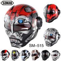ingrosso caschi originali del motociclo-Original Soman 515 ironman Moto casco moto casco capacetes sporcizia biker verspa caschi di sicurezza