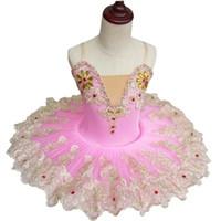 erwachsene schwan kostüm großhandel-Professionelle rosa weiße erwachsene Ballerina Kostüm Ballettröckchen Rock Gaze Kinder Little Swan Bühnen Ballett Tanzkleidung