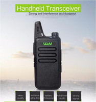 rádios de longo alcance venda por atacado-Ultra-fino mini walkie talkie profissional de longo alcance transceptor de rádio portátil uhf wln kd-C1 para comunicador de rádio em dois sentidos