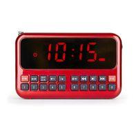 Wholesale Flash Alarm Clock - FM Radio Mini Portable Old Man Music Radio Antenna Alarm Clock FM 87.5-108MHz Support TF SD U-flash Card 10.7cm Big Display