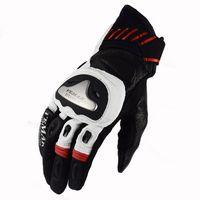 Wholesale titanium motorcycle gloves resale online - Vemar Titanium Real Leather Motorcycle Gloves Touch Screen Men Women Motocross Breathable Electric Bike Gloves Moto Glove