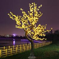 ingrosso illuminazione rosa albero fiore-Lucido LED Cherry Blossom Albero di Natale Illuminazione Impermeabile Decorazione del paesaggio del giardino Lampada per la festa nuziale Forniture natalizie