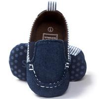 ingrosso baby uk-baby boys scarpe primi camminatori Baby Toddler Soft Sole Leather Shoes Infant Boy Girl Toddler uk m8
