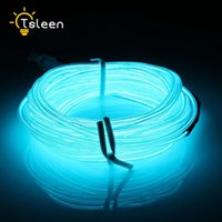 Wholesale Led Glow Clothes - TSLEEN Flexible LED Light Tube 2M 3M LED Strip Waterproof 5M Flexible EL Wire Rope Tape Cable Neon Glow Light Clothing Car Auto