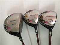 damen golf wälder großhandel-Frauen Golf Clubs Honma Golf Woods 3 Sterne Honma S-03 Holzsatz Driver + Fairway Woods Lady ARMRQ8 Graphitschaft mit Kopfabdeckung