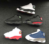 Wholesale youth basketball shoes cheap - 2018 Children's 13 XIII Basketball Shoes Kids 13s Sports Boys Girls Youths Little Baby Athletic Sneakers Cheap For Sale