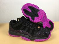 Wholesale queen cotton - Wholesale 11 Low Rook To Queen Think 1 Women Basketball Shoes 11s Black Purple Burst Athletic Sports Designer Sneakers 36-40