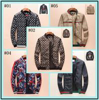 Wholesale luxury fleece jackets - Hot sale Spring Autumn New Fashion Brand Flowers Print Jacket Men England Style Hoodies Man Slim Fit Casual Luxury Coat Plus Size M-XXXL