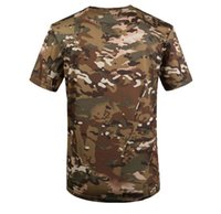 Wholesale tactical camo shirt resale online - New Outdoor Hunting Camouflage T shirt Men Breathable Army Tactical Combat T Shirt Dry Sport Camo Camp Tees CP Green