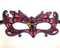 лиса маски сексуальность оптовых-100 шт./лот Хэллоуин Red Fox мягкие кружева Маска партии мяч Маска карнавал маскарад sexy Lady маски
