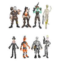 juguetes de los niños al por mayor-8 estilo Fortnite juguetes de muñeca de plástico 2018 nuevos niños 10 cm juego de dibujos animados fortnite llama esqueleto papel Figura Toy B