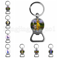 Wholesale bottle collection - Fortnite bottle opener Stainless Steel Pendant Collection key ring Cartoon Toys key ring Fortnite Pendant LJJH73