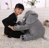 animal elefante al por mayor-Regalo de felpa Elefante Peluches muñecas Elefante Juguete de peluche Elefantes Cojín Elefante Bebé durmiendo Alta calidad