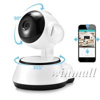 cctv eğim kamerası toptan satış-Pan / Tilt Ev Güvenlik Kablosuz Mini IP Kamera Gözetim Kamera Wifi 720 P Gece Görüş CCTV Kamera Bebek Monitörü