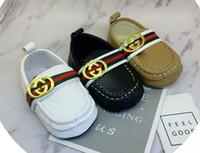 bebekler için mokasenler toptan satış-2019 Erkek Bebek Ayakkabı Sneakers Sonbahar Katı Unisex Beşik Ayakkabı Bebek PU Deri Ayakkabı Toddler Moccasins Bebek Kız İlk Walker Ayakkabı
