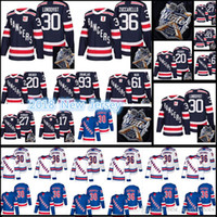 17-18 New York Rangers Jersey Men s  30 Henrik Lundqvist 36 Mats Zuccarello  20 Kreider 93 Zibanejad 27 McDonagh Winter Classic Jerseys dcf7c752a