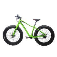 bisikletler toptan satış-Toptan Kış Karbon Fiber 26ER Kar Yağ Komple Bisiklet Bisiklet Dağ Yeşil Bisikletler Ciclismo BICICLETA Completa Boyutu 17.5