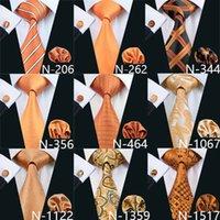 krawatten marken großhandel-9 stil orange günstige krawatten für männer marke krawatte mode neu aktive herren krawatte set hochwertige mode zubehör krawatte versandkostenfrei