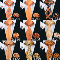 Wholesale orange accessories for men for sale - Group buy 9 Style Orange Cheap Ties For Men Brand Tie Fashion Novely Active Mens Neck Tie Set High Quality Fashion Accessories Necktie