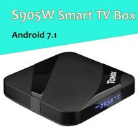 андрейд телевизоры оптовых-TX3 Макс Android7.1 ТВ коробка Amlogic коробка S905W четырехъядерный 2 ГБ 16 ГБ WiFi с Bluetooth 4K потокового медиа-проигрыватель Andriod TVbox 7.1 умный мини-ПК