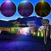Discount outdoor laser light garden waterproof - ESHINY Outdoor RGB Laser Full Stars Sky Patterns Projector House Party Xmas DJ Wall Tree Landscape Garden Waterproof Light T71